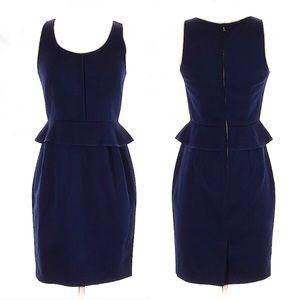 CLUB MONACO Navy Blue Sleeveless PEPLUM DRESS